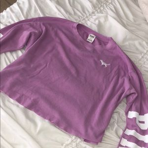 Victorious Secret Pink Cropped Long Sleeve